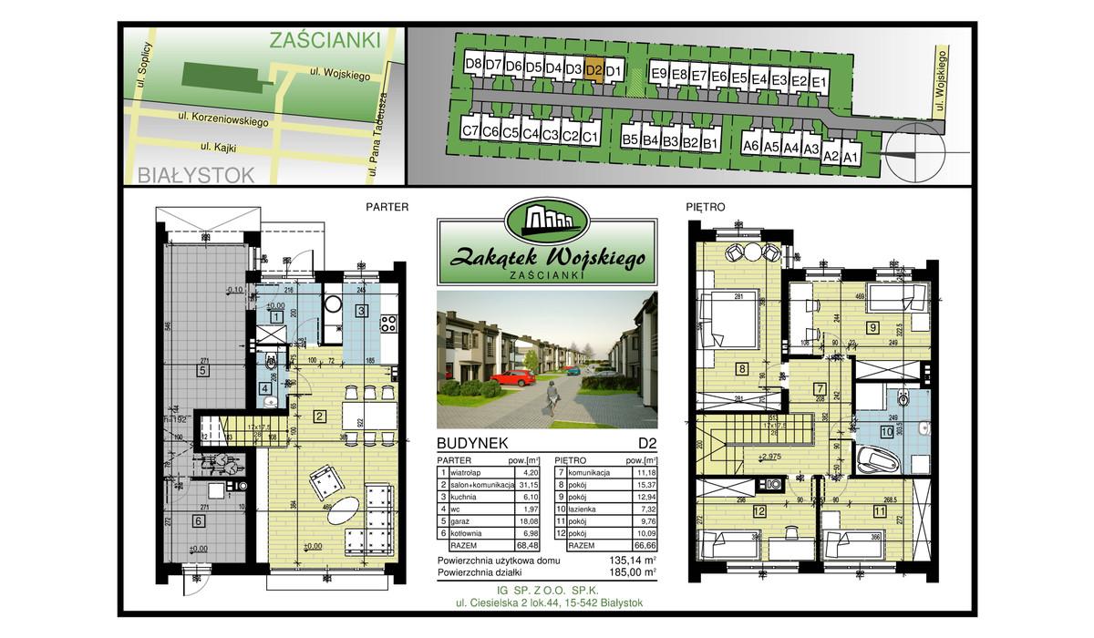 Dom w inwestycji Zakątek Wojskiego, Białystok, 135 m² | Morizon.pl | 5480