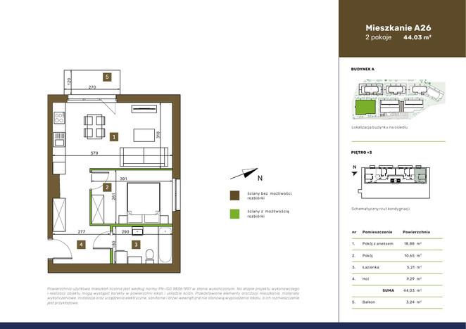 Mieszkanie w inwestycji OSIEDLE PRZEDWIOŚNIE, Warszawa, 44 m² | Morizon.pl | 3458