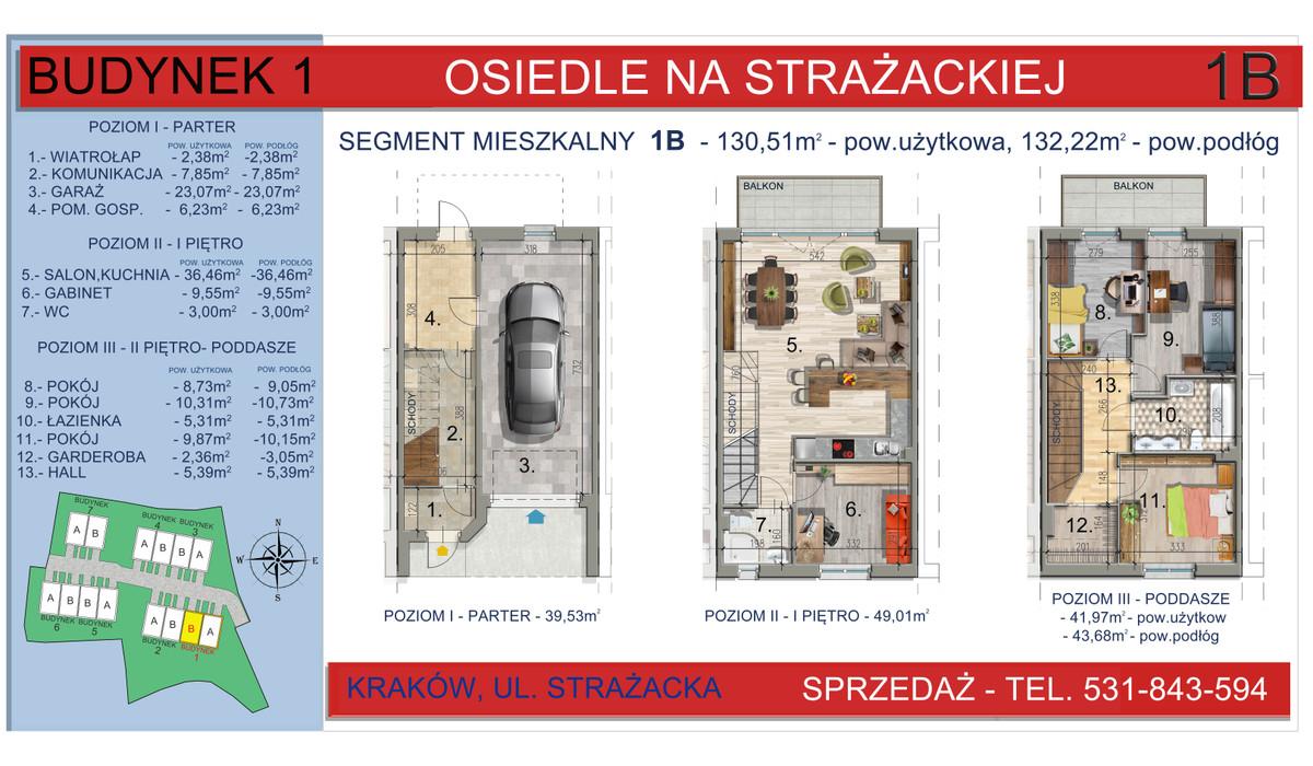 Dom w inwestycji Osiedle na Strażackiej, Kraków, 130 m²   Morizon.pl   2157
