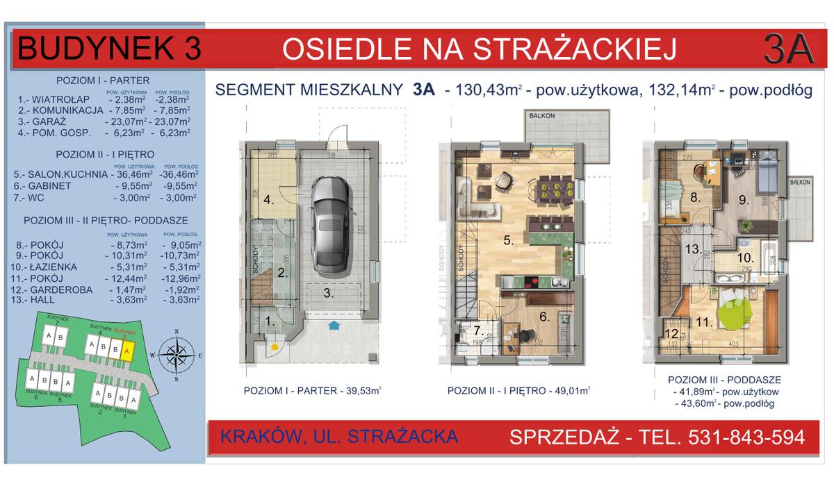 Dom w inwestycji Osiedle na Strażackiej, Kraków, 130 m² | Morizon.pl | 2160