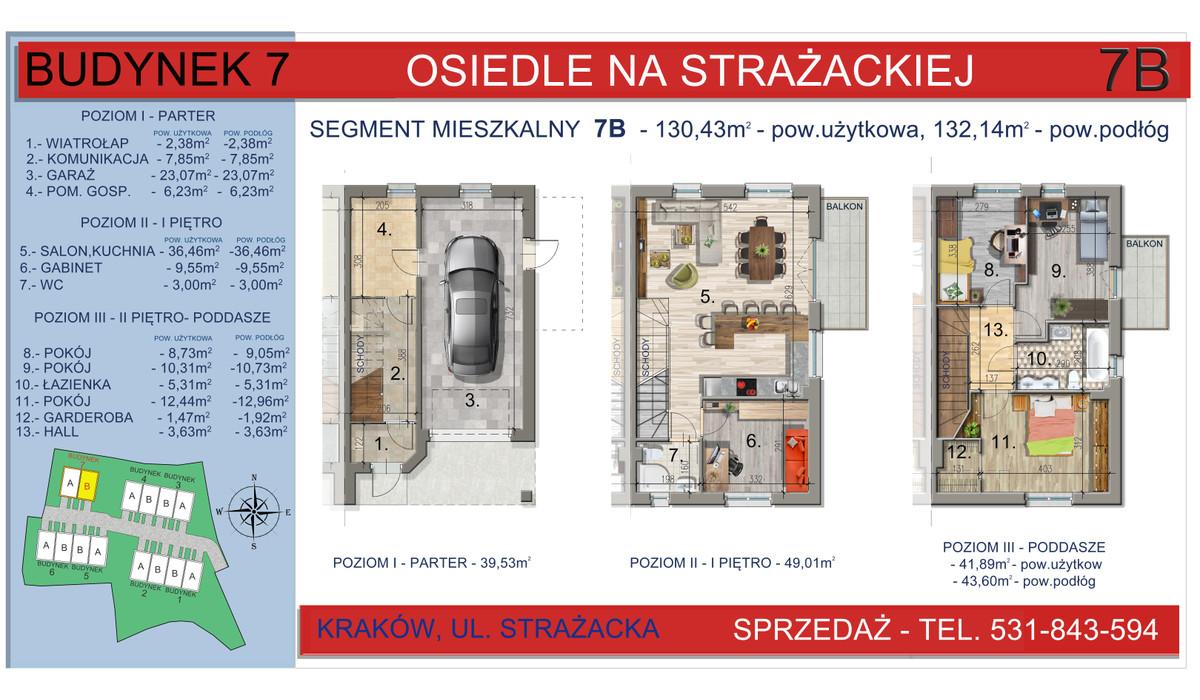 Dom w inwestycji Osiedle na Strażackiej, Kraków, 130 m²   Morizon.pl   2169