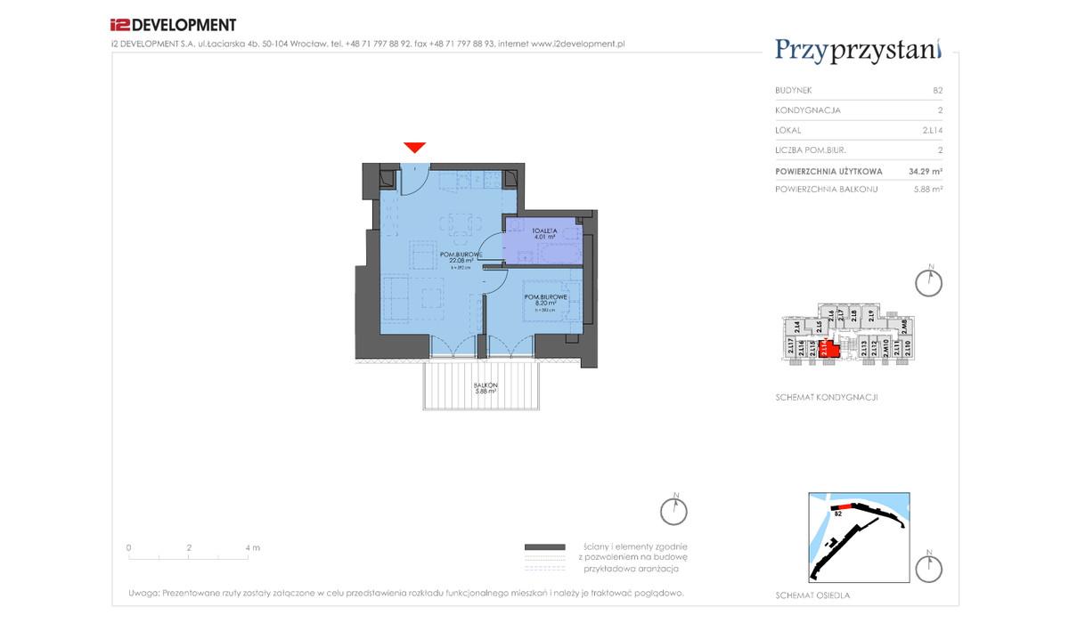 Mieszkanie w inwestycji Przy przystani, Wrocław, 34 m² | Morizon.pl | 7349