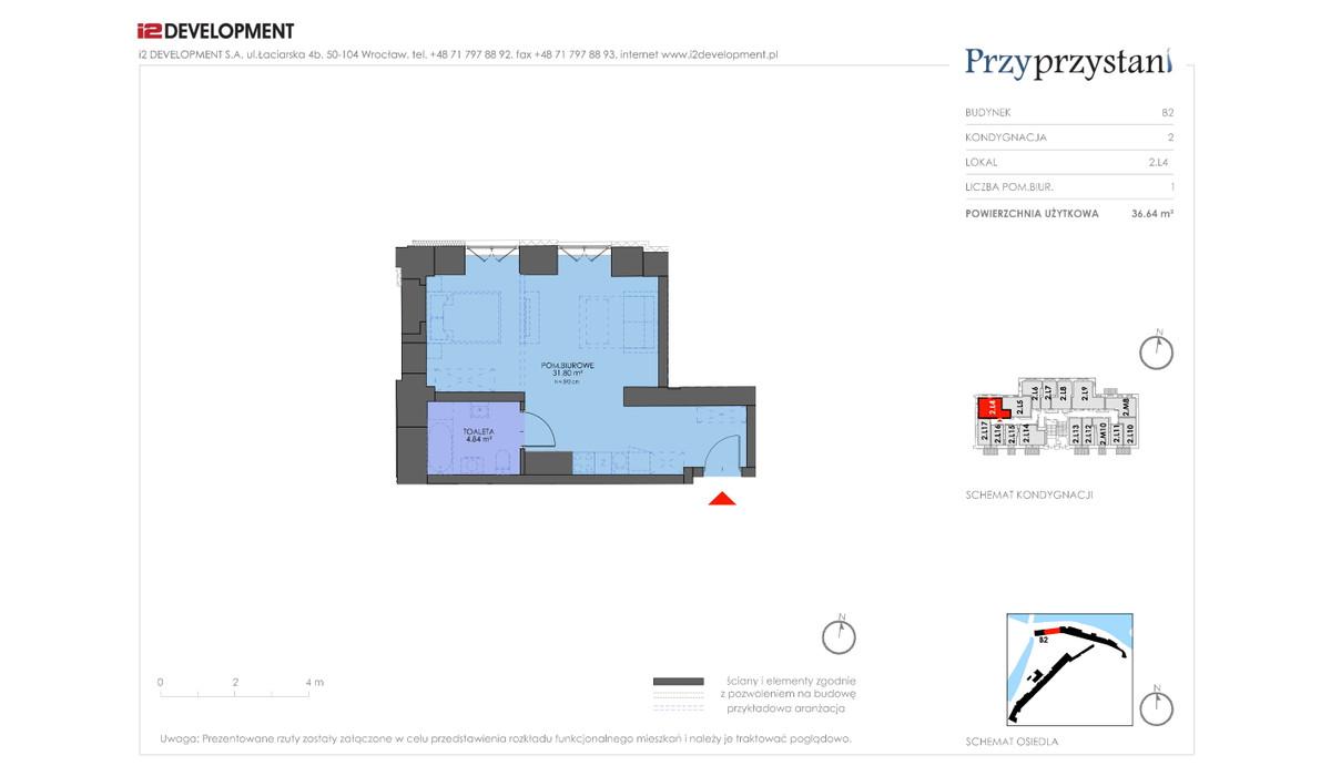 Mieszkanie w inwestycji Przy przystani, Wrocław, 37 m² | Morizon.pl | 7353