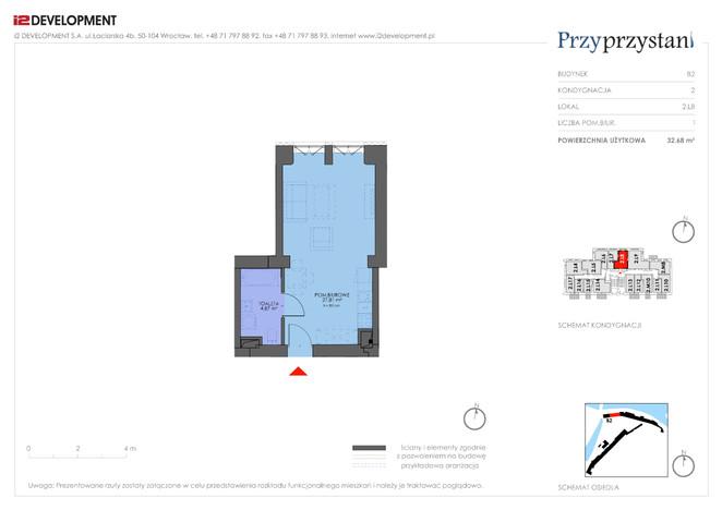Mieszkanie w inwestycji Przy przystani, Wrocław, 33 m² | Morizon.pl | 7357