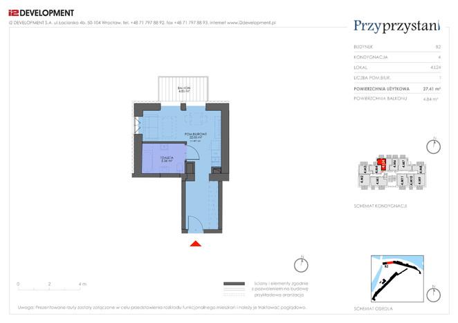 Mieszkanie w inwestycji Przy przystani, Wrocław, 27 m² | Morizon.pl | 7365