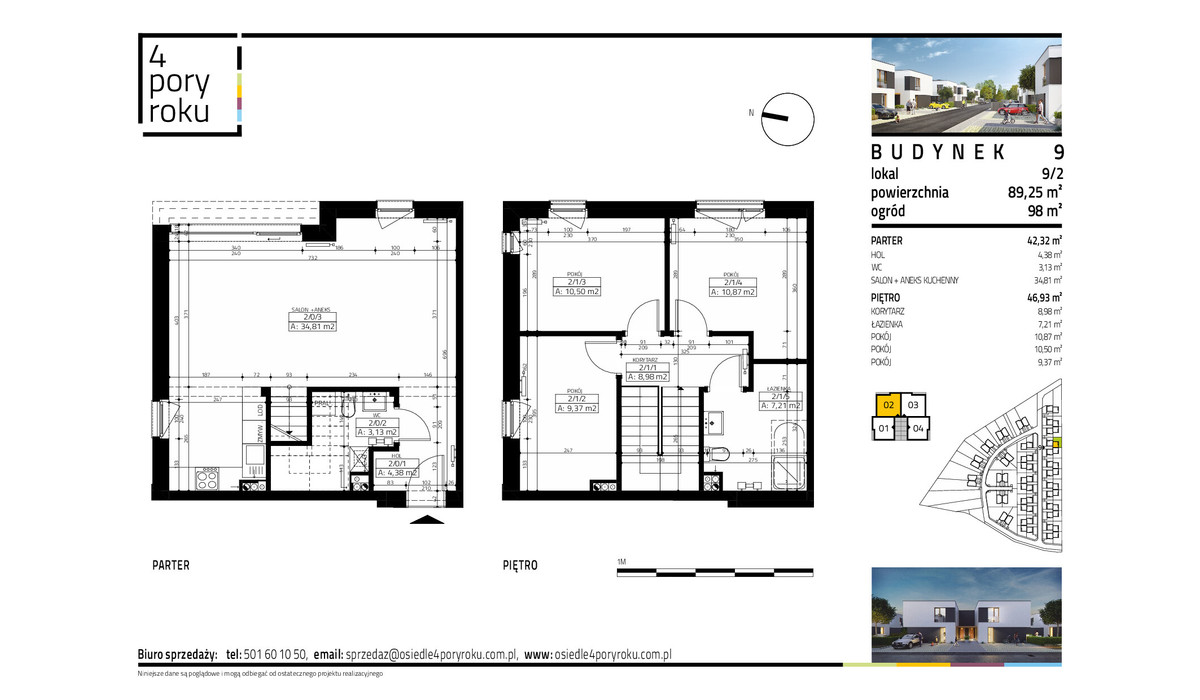 Dom w inwestycji Osiedle 4 Pory Roku, Gowarzewo, 89 m² | Morizon.pl | 1069