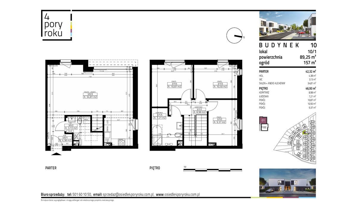 Dom w inwestycji Osiedle 4 Pory Roku, Gowarzewo, 89 m²   Morizon.pl   1072