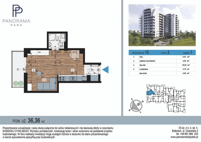 Mieszkanie w inwestycji Panorama Park, Białystok, 36 m²   Morizon.pl   1370