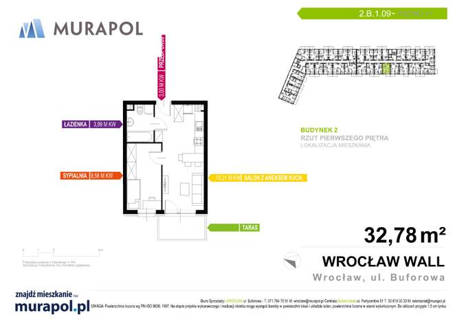 Mieszkanie w inwestycji Murapol Zielona Toskania, Wrocław, 33 m² | Morizon.pl | 3769