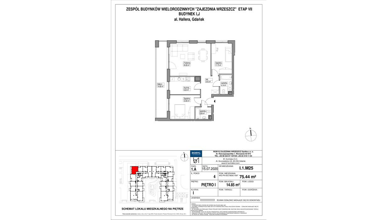 Mieszkanie w inwestycji Zajezdnia Wrzeszcz, Gdańsk, 75 m² | Morizon.pl | 2293