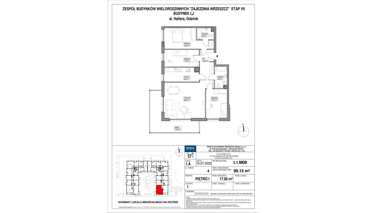 Mieszkanie w inwestycji Zajezdnia Wrzeszcz, Gdańsk, 99 m²   Morizon.pl   2203