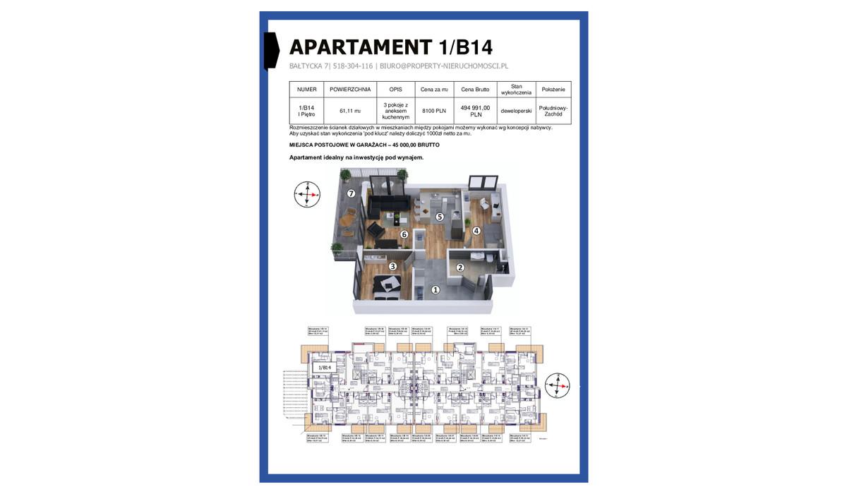 Mieszkanie w inwestycji KAPITAŃSKI MOSTEK, Kołobrzeg, 61 m² | Morizon.pl | 5241