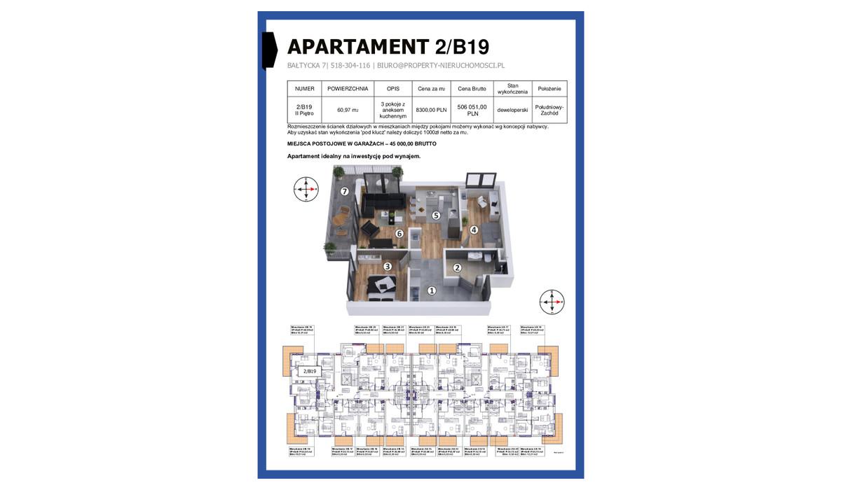 Mieszkanie w inwestycji KAPITAŃSKI MOSTEK, Kołobrzeg, 61 m² | Morizon.pl | 4642