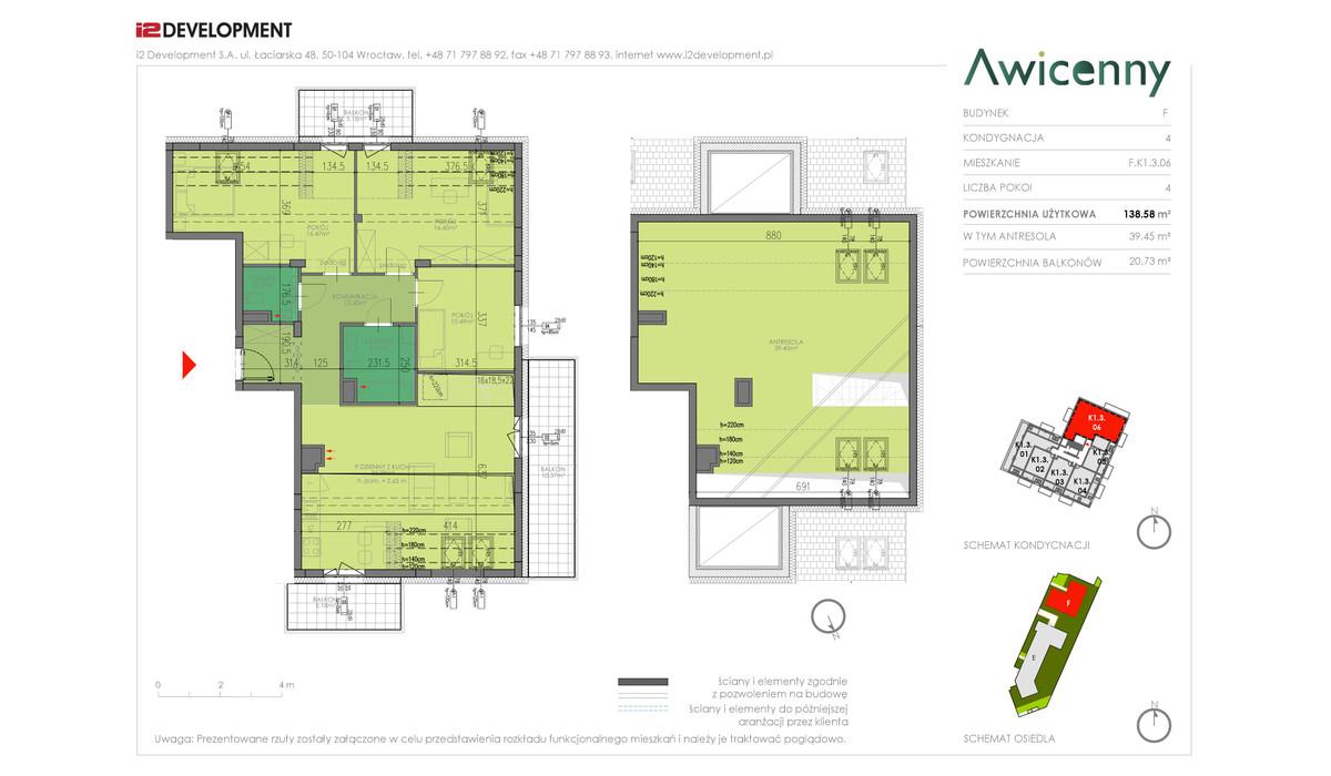 Mieszkanie w inwestycji Awicenny, Wrocław, 139 m² | Morizon.pl | 4022