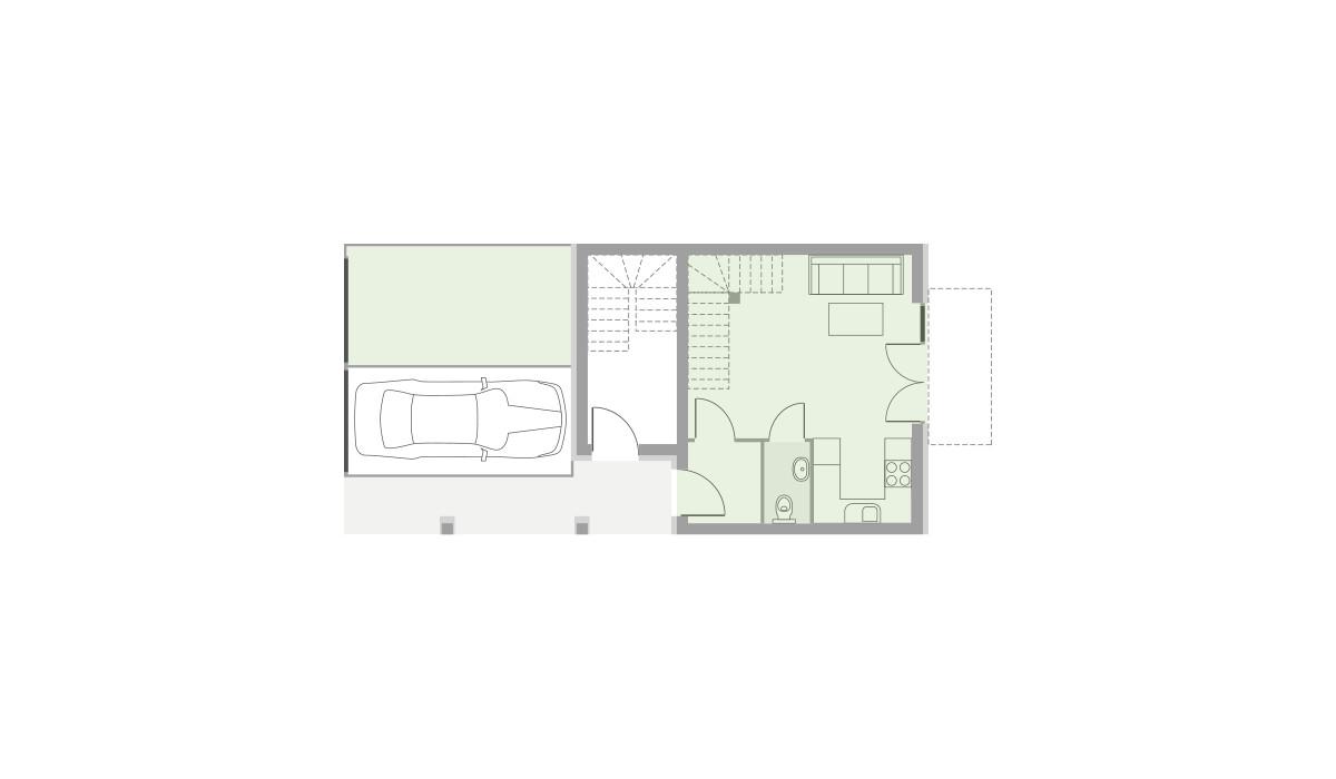 Dom w inwestycji Domy Dachowa, Dachowa, 58 m² | Morizon.pl | 9652