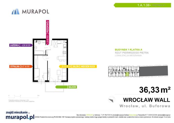 Mieszkanie w inwestycji Murapol Zielona Toskania, Wrocław, 36 m²   Morizon.pl   7050