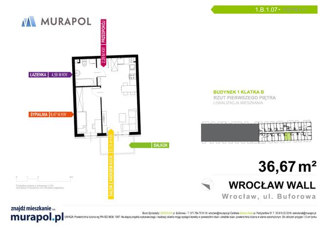 Mieszkanie w inwestycji Murapol Zielona Toskania, Wrocław, 37 m² | Morizon.pl | 7128