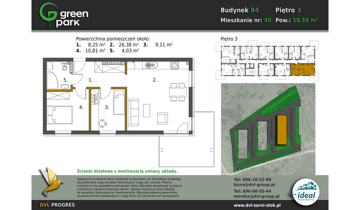 Mieszkanie w inwestycji Nowe Apartamenty Green Park, Bielsko-Biała, 59 m² | Morizon.pl | 2699