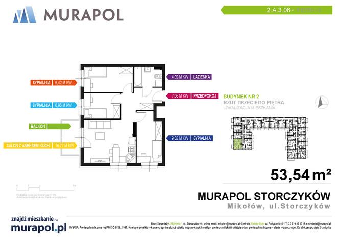 Mieszkanie w inwestycji Murapol Osiedle Storczyków, Mikołów, 54 m²   Morizon.pl   3847