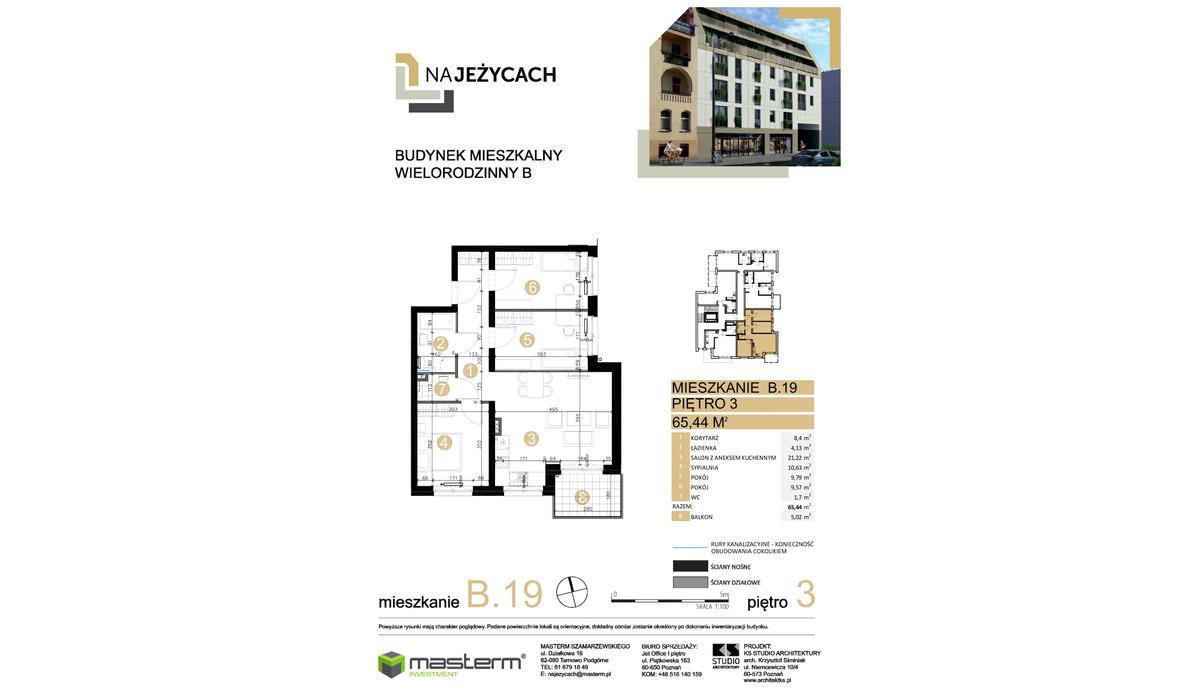 Mieszkanie w inwestycji NA JEŻYCACH, Poznań, 65 m² | Morizon.pl | 1029