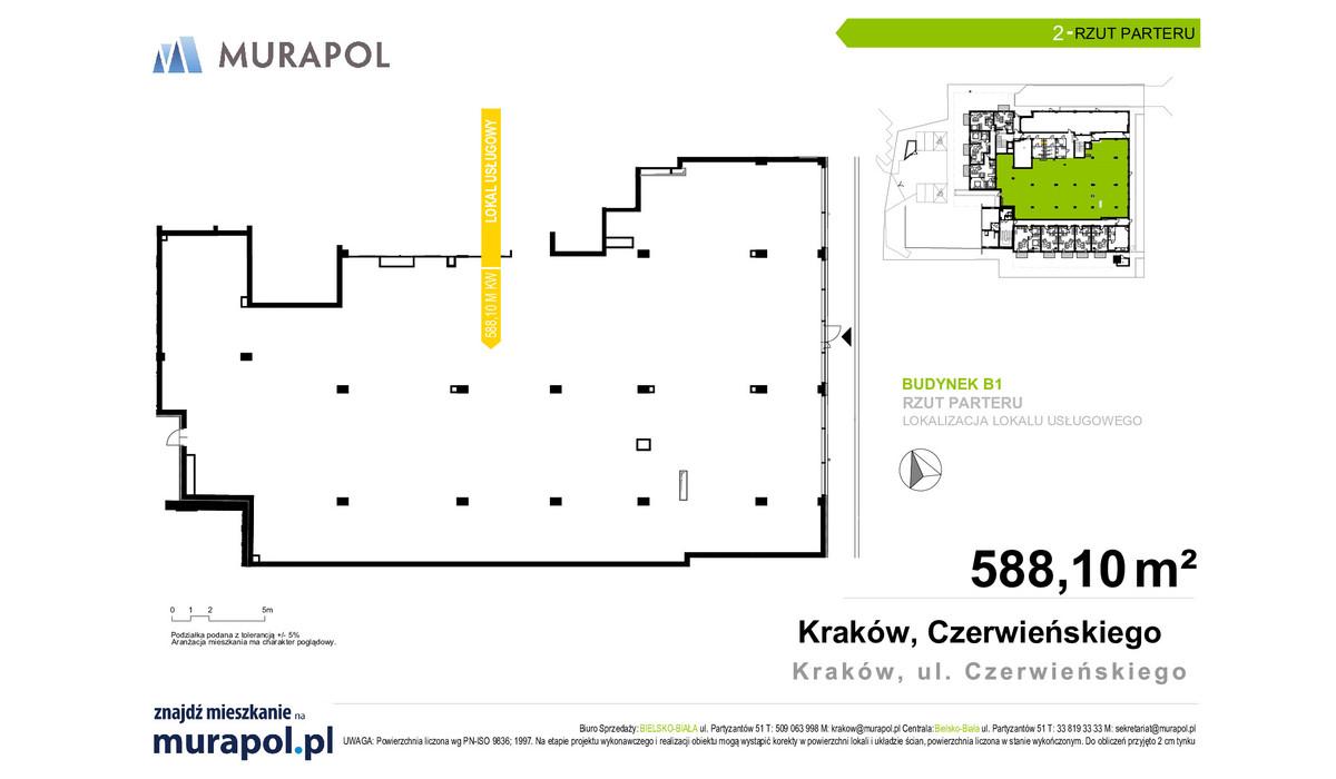 Komercyjne w inwestycji Atrium Czerwieńskiego - lokale usługo..., Kraków, 588 m²   Morizon.pl   3828