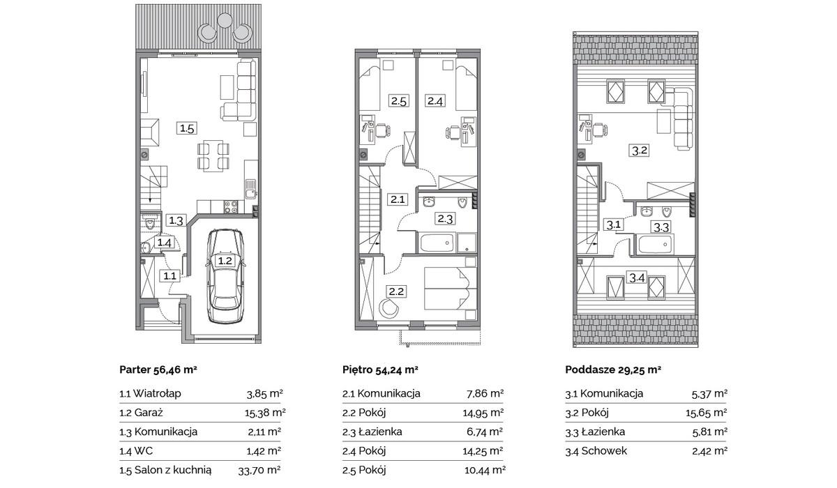 Dom w inwestycji Osiedle Na Wspólnej, Radomierzyce, 141 m² | Morizon.pl | 2885