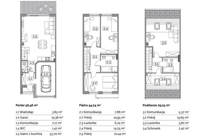 Dom w inwestycji Osiedle Na Wspólnej, Radomierzyce, 141 m²   Morizon.pl   2895