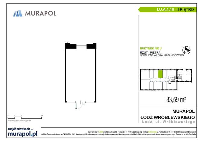 Komercyjne w inwestycji Nowa Przędzalnia - lokale usługowe, Łódź, 34 m² | Morizon.pl | 1055