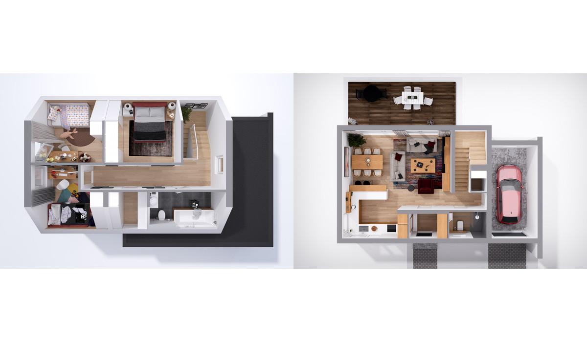 Dom w inwestycji Chmielowice Apartamenty, Chmielowice, 124 m² | Morizon.pl | 2348