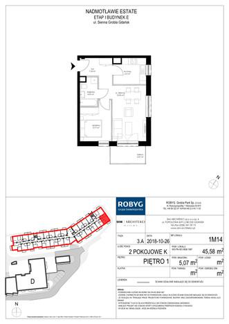 Mieszkanie w inwestycji Nadmotławie Estate, Gdańsk, 46 m² | Morizon.pl | 4265