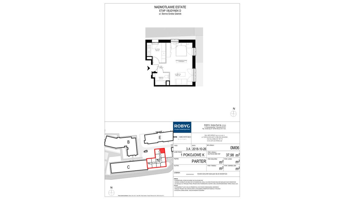 Mieszkanie w inwestycji Nadmotławie Estate, Gdańsk, 38 m² | Morizon.pl | 4221