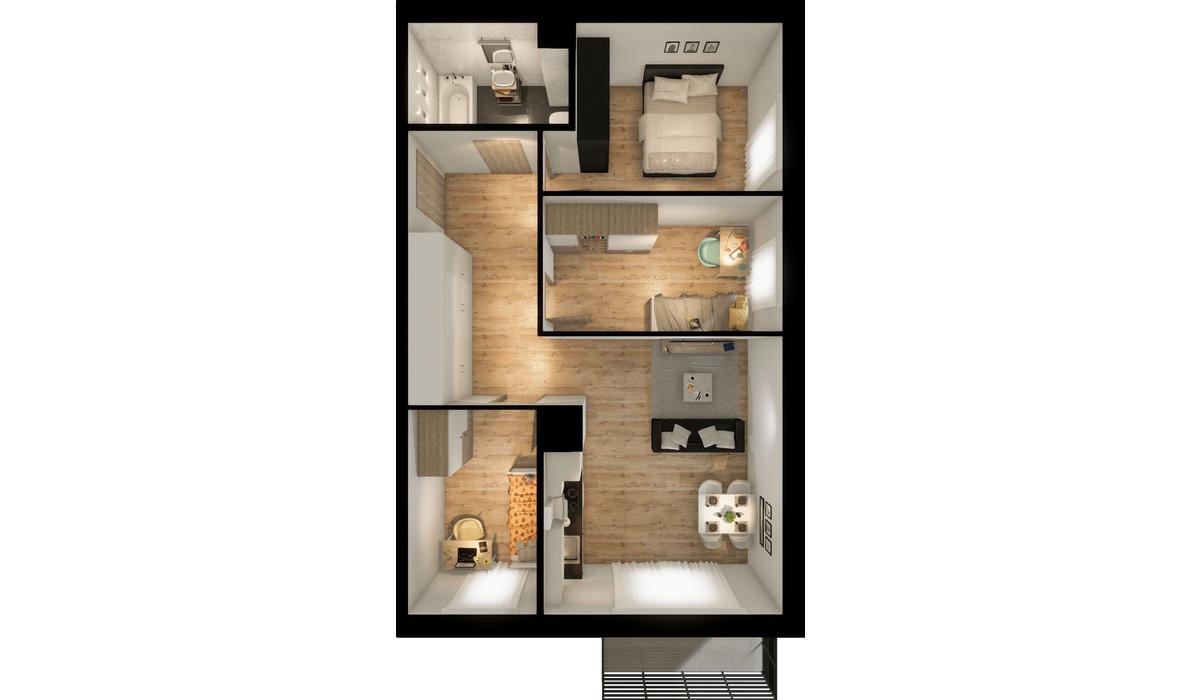 Mieszkanie w inwestycji Signum, Gdynia, 67 m²   Morizon.pl   0139