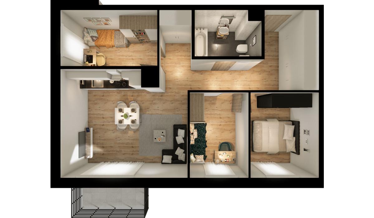 Mieszkanie w inwestycji Signum, Gdynia, 70 m²   Morizon.pl   0141