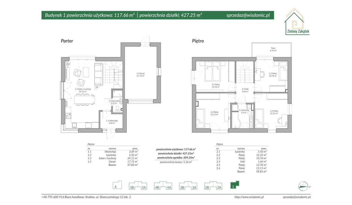 Dom w inwestycji ZIELONY ZAKĄTEK, Kraków, 118 m²   Morizon.pl   2885