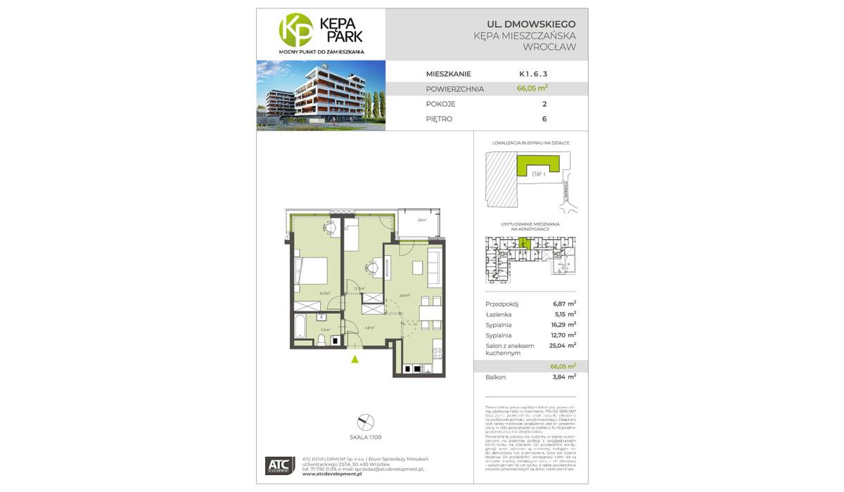 Mieszkanie w inwestycji Kępa Park, Wrocław, 66 m²   Morizon.pl   9097