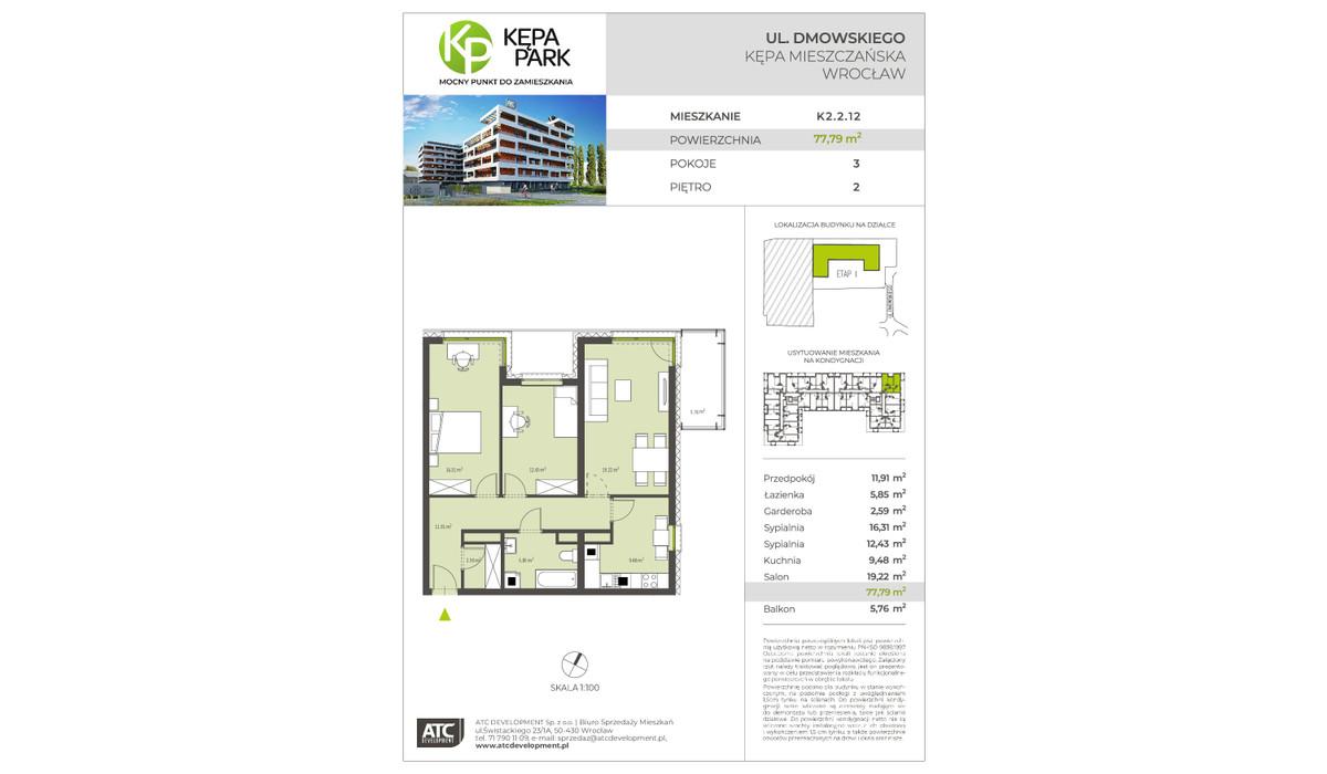 Mieszkanie w inwestycji Kępa Park, Wrocław, 78 m²   Morizon.pl   9110