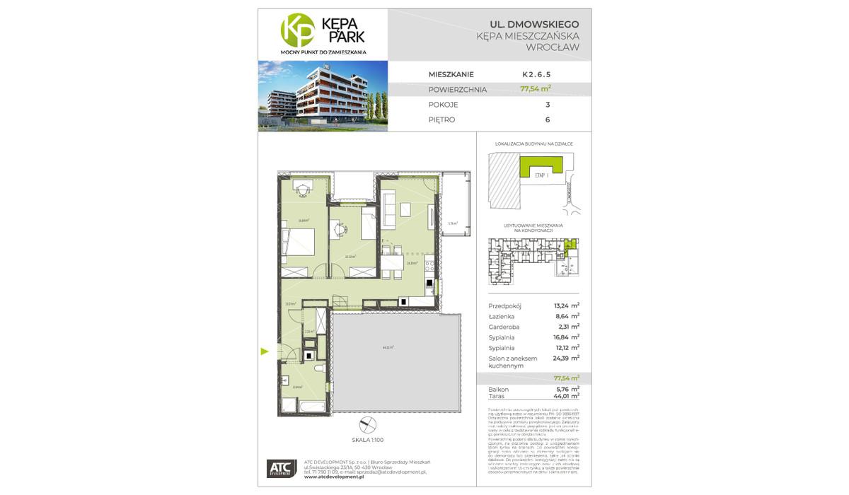 Mieszkanie w inwestycji Kępa Park, Wrocław, 78 m²   Morizon.pl   9132