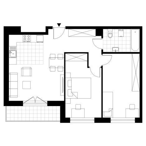 Mieszkanie w inwestycji Piasta Park III, Kraków, 61 m² | Morizon.pl | 8378