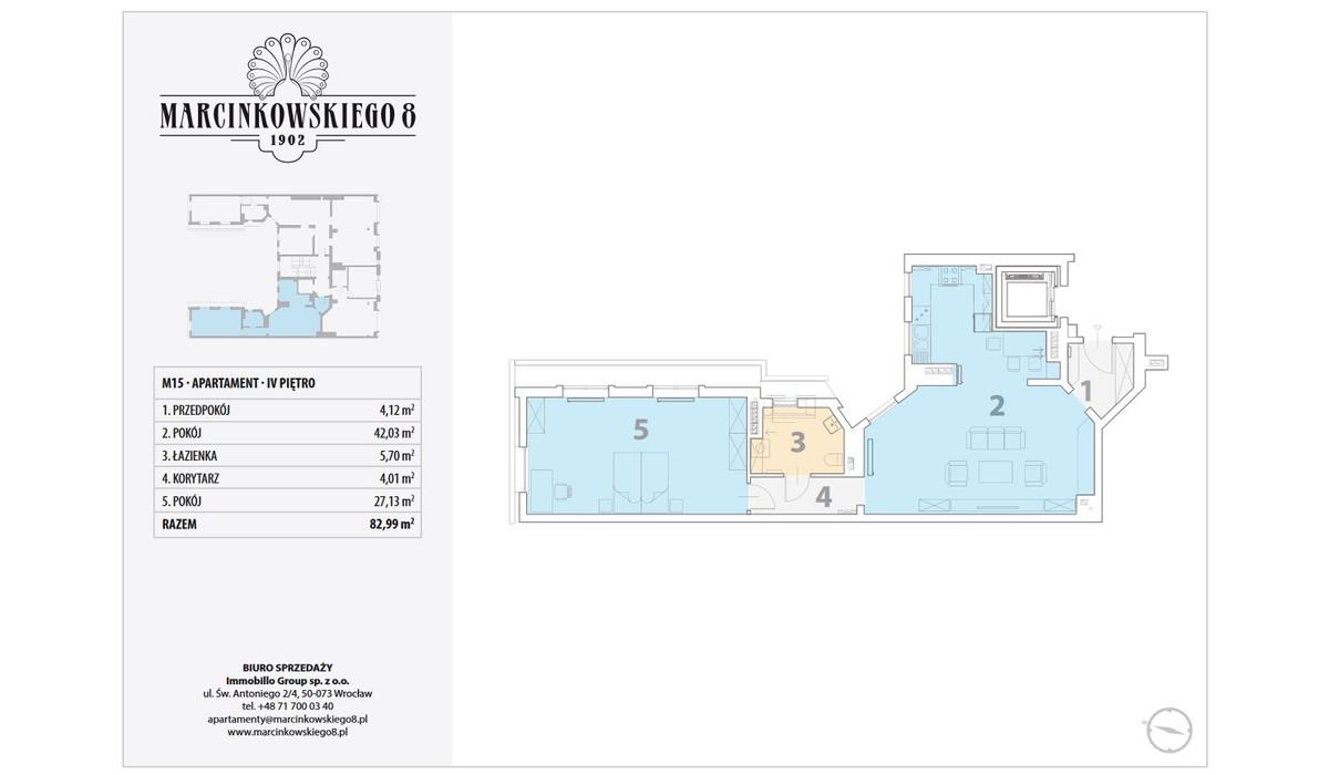Mieszkanie w inwestycji Marcinkowskiego 8, Wrocław, 83 m²   Morizon.pl   9010