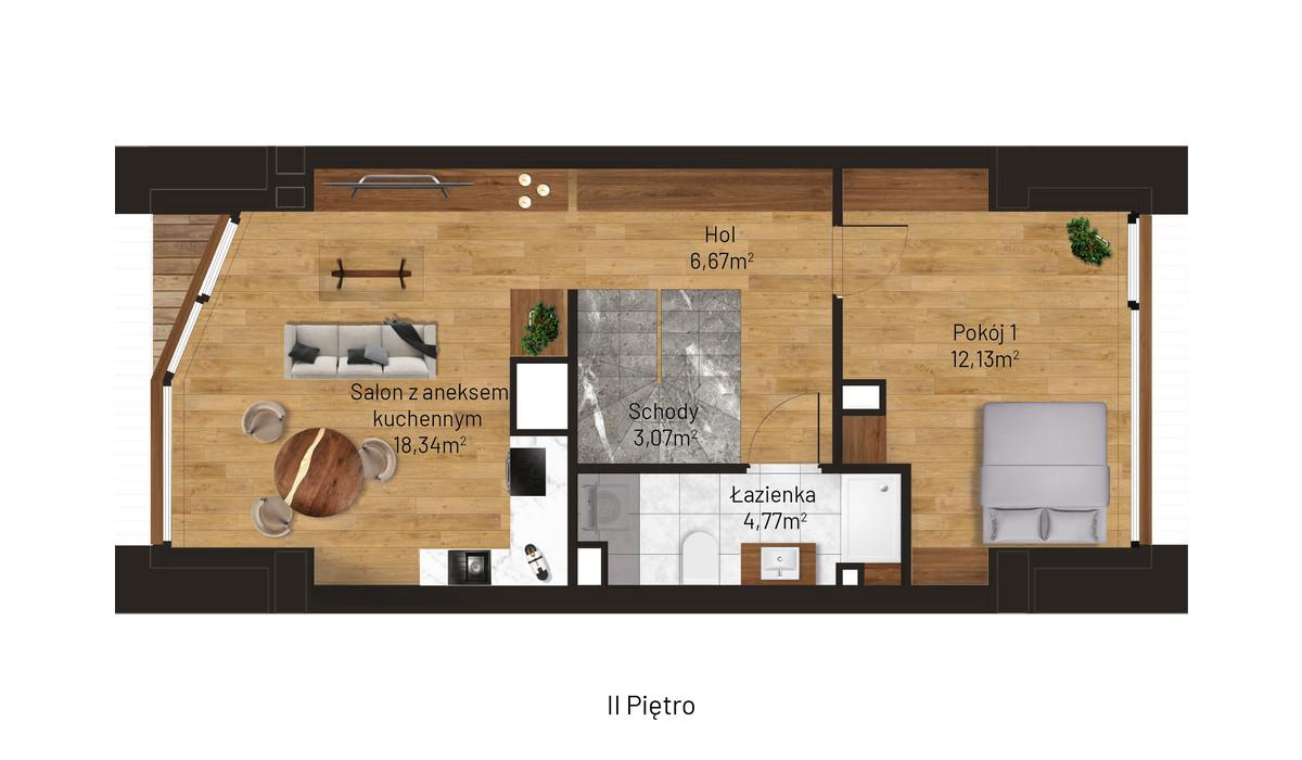 Mieszkanie w inwestycji Jordanowska, Kraków, 45 m² | Morizon.pl | 0872