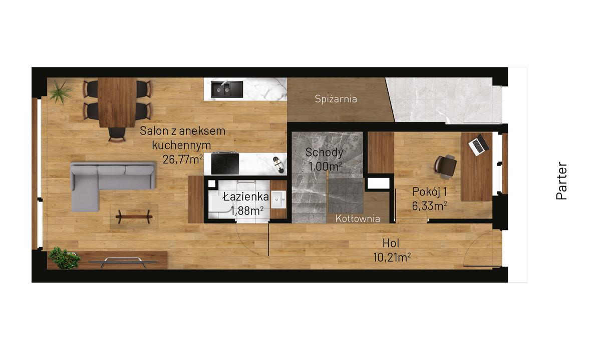 Mieszkanie w inwestycji Jordanowska, Kraków, 89 m² | Morizon.pl | 0881