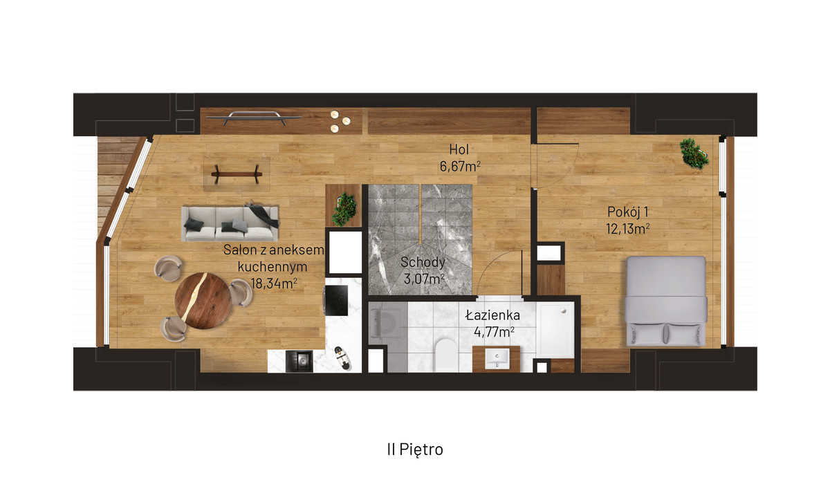 Mieszkanie w inwestycji Jordanowska, Kraków, 45 m² | Morizon.pl | 0886