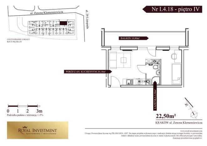 Mieszkanie w inwestycji ROYAL STUDIOS SMART APARTAMENTS, Kraków, 23 m² | Morizon.pl | 5610