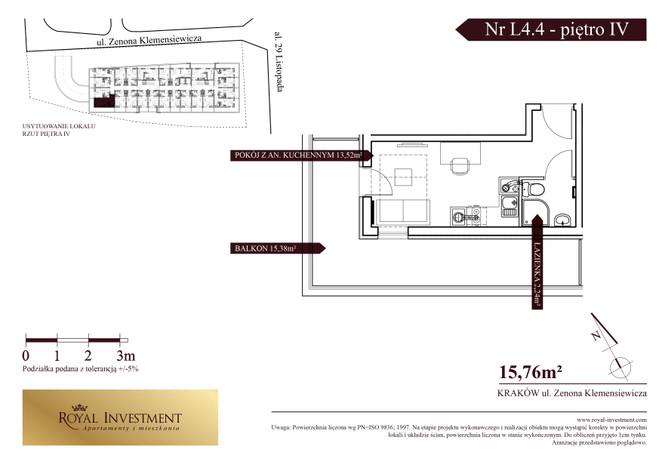 Mieszkanie w inwestycji ROYAL STUDIOS SMART APARTAMENTS, Kraków, 16 m²   Morizon.pl   5618