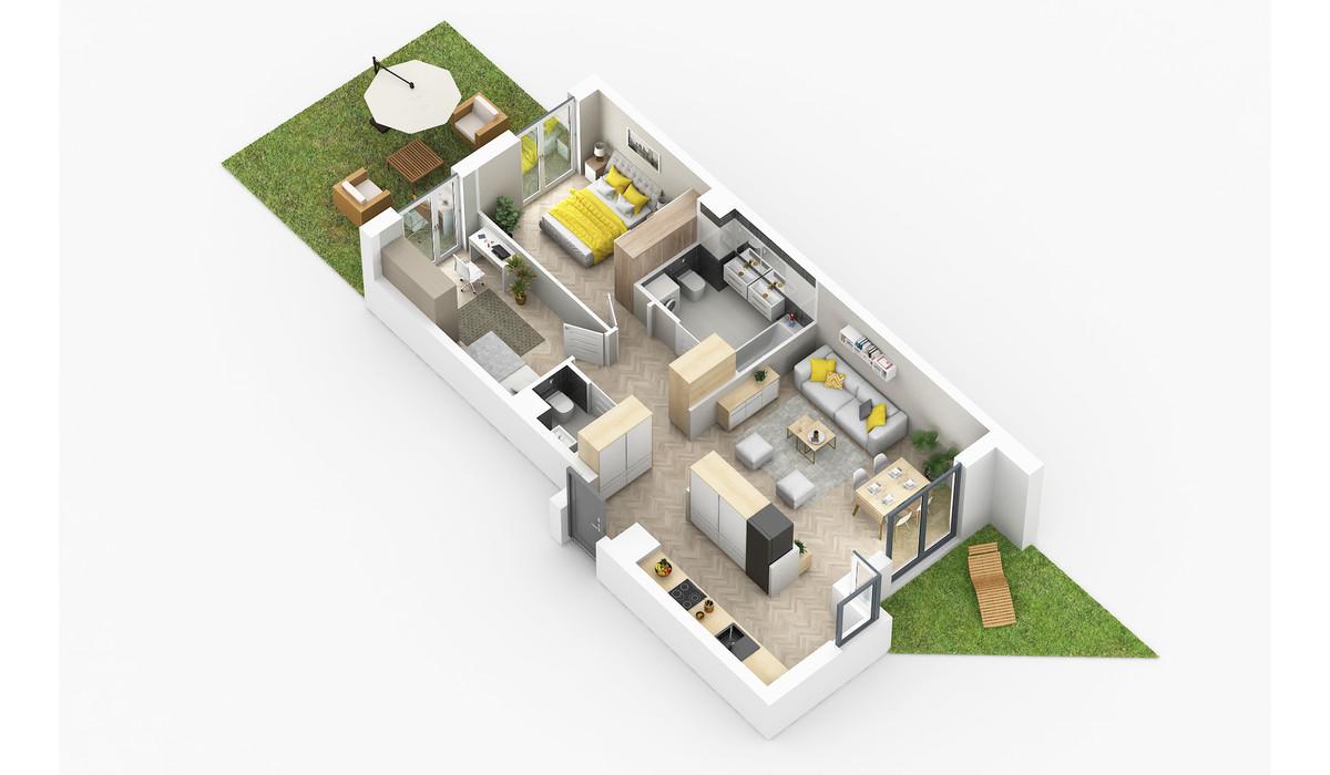 Mieszkanie w inwestycji Golden Space, Warszawa, 69 m² | Morizon.pl | 5726
