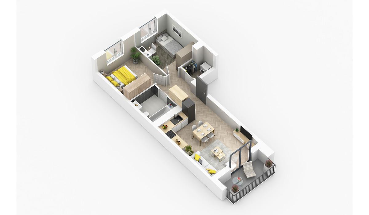 Mieszkanie w inwestycji Golden Space, Warszawa, 58 m² | Morizon.pl | 5757