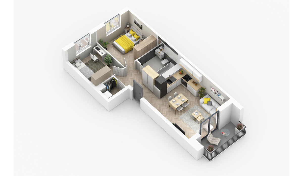 Mieszkanie w inwestycji Golden Space, Warszawa, 59 m² | Morizon.pl | 5758