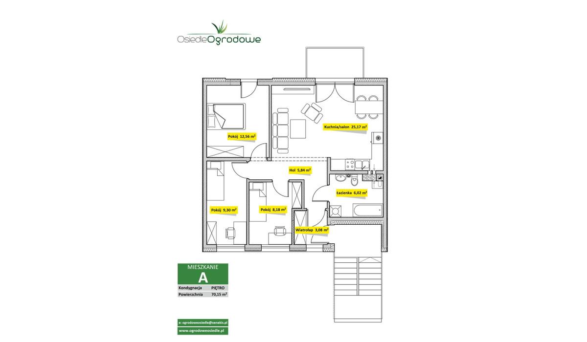 Mieszkanie w inwestycji Osiedle Ogrodowe - Świętochłowice, Świętochłowice, 70 m²   Morizon.pl   7535
