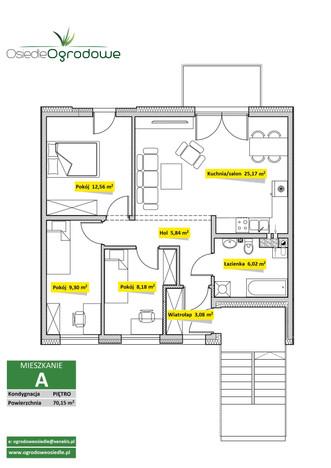 Mieszkanie w inwestycji Osiedle Ogrodowe - Świętochłowice, Świętochłowice, 70 m²   Morizon.pl   7541