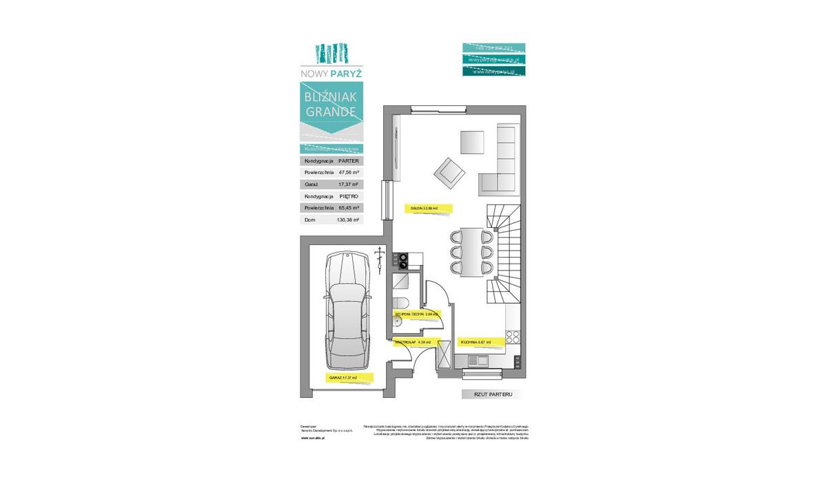 Dom w inwestycji Nowy Paryż - Ruda Śląska, Ruda Śląska, 130 m² | Morizon.pl | 2070